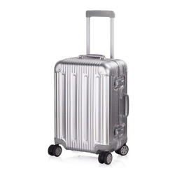 Aluminum Luggage Carry On Spinner Hard Shell Suitcase Lightweight Metal Suitcase
