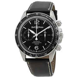 Bell And Ross Vintage V2-94 Chronograph Automatic Black Dial Menand039s Watch