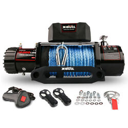 12000lbs Synthetic Rope Winch Electric Winch Kit Waterproof With Hawse Fairlead
