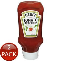 2 X Heinz Tomato Sauce Ketchup 500ml Bottle Meal Condiments Flavouring Ingred...