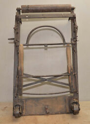 Antique Cast Iron Piano Movers Cart Collectible Railroad Man Dolly Handling Tool