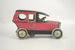 Vintage Tin Toy Car 1920s Greppert And Kelch Gundka Limousine Germany 6.5