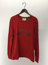 18aw/long-sleeved T-shirt/s/cotton/red/dragon Embroidery/classic