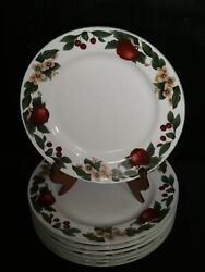 The Cades Cove Collection Set Of 8 10.75 Dinner Plates Fruit Apples