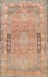 Antique Tribal Geometric Abadeh Hand-knotted Area Rug Traditional Oriental 5and039x7and039