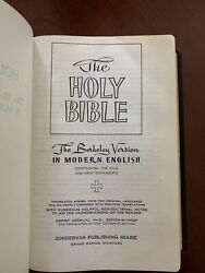The New Berkeley Version In Modern English Bible - Rare Find 1963 Edition.