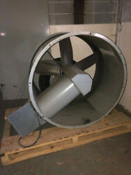 Acme Tubemaster Tubeaxial Model Ha48 10 Hp 5 Blade Fan Very Good Condition Used