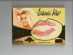 2020 Benchwarmer Vegas Baby Preview Kiss Auto Brandie Moses 1/1 On 2016 Gold