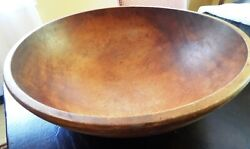 Very Large Antique Minising Wooden Bowl 17.5 Perfect Beauty.