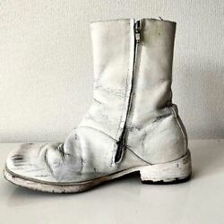 Martin Margiela 10 Paint Boots Square Toe Size 40 F/s From Japan [a]