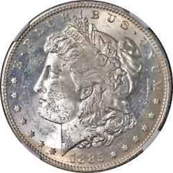 1885-s Morgan Silver Dollar Ngc Ms61 Decent Eye Appeal Strong Strike