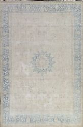 Memorial Deal Antique Muted Kirman Evenly Low Pile Area Rug Handmade Wool 10x13