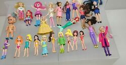 Little Mixed Lot Of Barbies From Mcdonaldand039s And Others Rubber Clothing See Pics