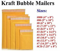 Kraft Bubble Mailers Shipping Mailing Padded Bags Self Seal Envelopes Any Size
