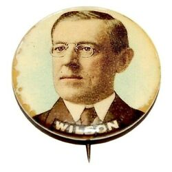 1912 Woodrow Wilson 1.25 Campaign Pin Pinback Button Political Presidential