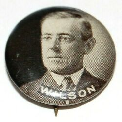 1912 Woodrow Wilson 5/8 Campaign Pin Pinback Button Badge Political Presidential
