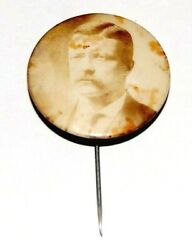 1904 Teddy Roosevelt 1.25 Stick Pin Theodore Campaign Pinback Button Political