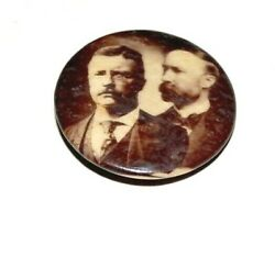 1904 Teddy Roosevelt Charles Fairbanks Theodore Campaign Pin Pinback Button