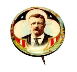 1904 Teddy Roosevelt 7/8 Theodore Campaign Pin Pinback Button Badge Political