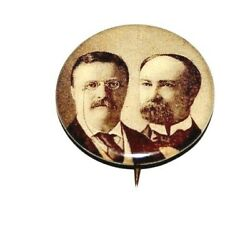 1904 Teddy Roosevelt 7/8 Charles Fairbanks Theodore Campaign Pinback Button