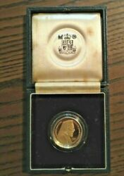 1977 Gold Proof Coin Andpound50 Republic Of Cyprus 50 Pound Archbishop Makarios Wth Box