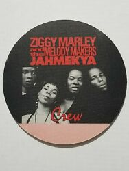 Unused Satin Ziggy Marley And Melody Makers Red Crew Backstage Pass Sticker