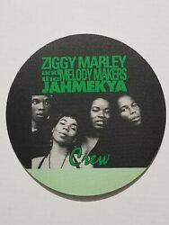 Unused Satin Ziggy Marley And Melody Makers Green Crew Backstage Pass Sticker
