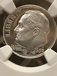 1998 S Silver Roosevelt Dime 10c Ngc Pf 69 Ultra Cameo