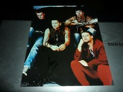 Autograph On 10 X 8 Photo Vintage Early Signatures By 3 Of U 2 Bono Edge+1 More