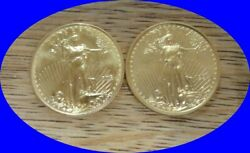 1994 And 1998 10 Gold American Eagle. 1/4 Oz Gold. Price Is For Both Coins.
