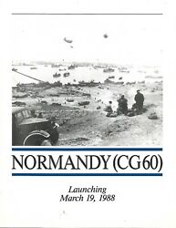 Uss Normandy Cg-60 Launching Program, Welcome Aboard And Commissioning Program