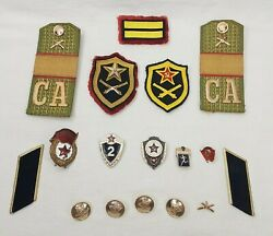 Vintage Russian Army Pins Patches Buttons Soviet Ussr Military Uniform