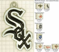 Mlb Team Logo Fobs Al Central, Various Designs And Leather Strap Options