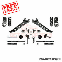 Fabtech 5 Radius Arm Sys W/coil Springs And Stealth Shocks For 14-17 Ram 2500 4wd