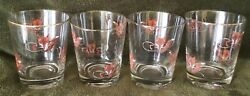 Fox Hunt Hunting Fox Head And Whip Rock Glasses Set Of Four