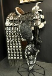 Incredible Western Heavy Duty Handmade Show Saddle Ranch Horse / 16 Horse Tack
