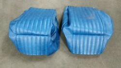 Old Vintage 1979 Thompson Bowrider Bow Rider Boat Set Lot Blue Seat Covers Skins