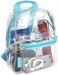 Water Resistant Clear Mini Backpacks For School Beach Stadium Approved Bag $14.99