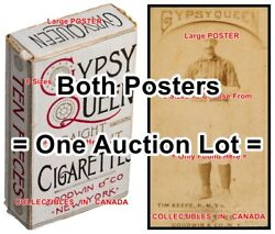 Gypsy Queen 1887 Tim Keefe = 2 Posters Box And Baseball Card 8 Sizes 17 - 3 Feet