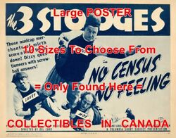 3 Three Stooges 1940 No Census No Feeling Football = Poster 10 Sizes 17-4.5 Ft