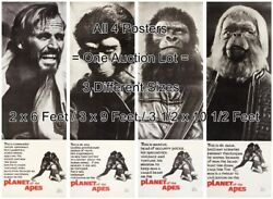 Planet Of The Apes 1968 Sci-fi = All 4 Posters 3 Sizes = 6 Ft. / 9 Ft. / 10.5 Ft