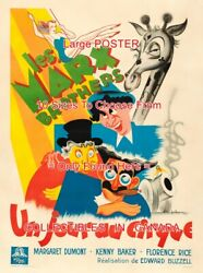 At The Circus 1939 Marx Bros. French Giraffe = Poster 10 Sizes 18 To 4.5 Feet