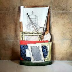 Vintage Fornasetti Milano Big Size Objects Signboard Wall Art Plate Italy 65 Cm