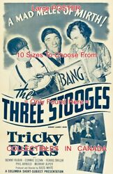 Tricky Dicks 1953 Three Stooges Melee Of Mirth = Movie Poster 10 Sizes 17-4.5ft