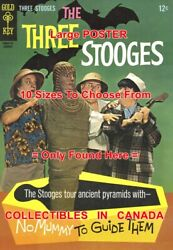 3 Three Stooges 1967 Ancient Egypt Mummy = Poster Comic Book 10 Sizes 17-4.5 Ft