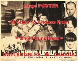 3 Three Stooges 1935 Three Little Beers Curly's Neck =poster 10 Sizes 17-4.5 Ft