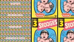 Three Stooges 1959 - 100 Images = Poster Gum Wrapper 3 Sizes 2.5 Ft 4 Ft 4.5 Ft