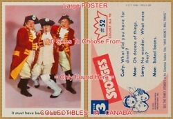 Three Stooges 1959 I Ate 52 = Poster Trading Card 10 Sizes 18 - 4 1/2 Feet