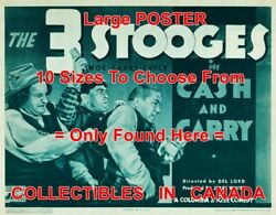 3 Three Stooges 1937 Cash And Carry Money Comedy = Poster 10 Sizes 17 - 4.5 Ft