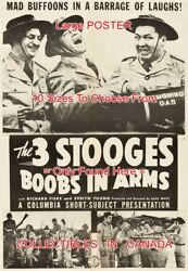 Boobs In Arms 1940 Three Stooges Laughing Gas = Movie Poster 10 Sizes 17-4.5 Ft